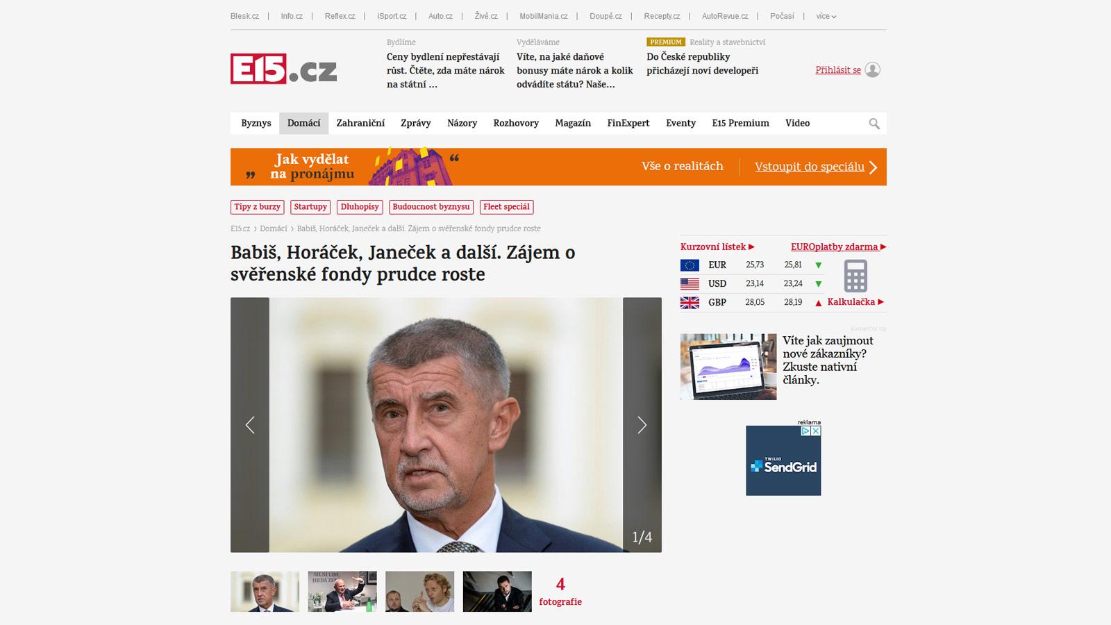 Informace o svěřenských fondech pro E15.cz